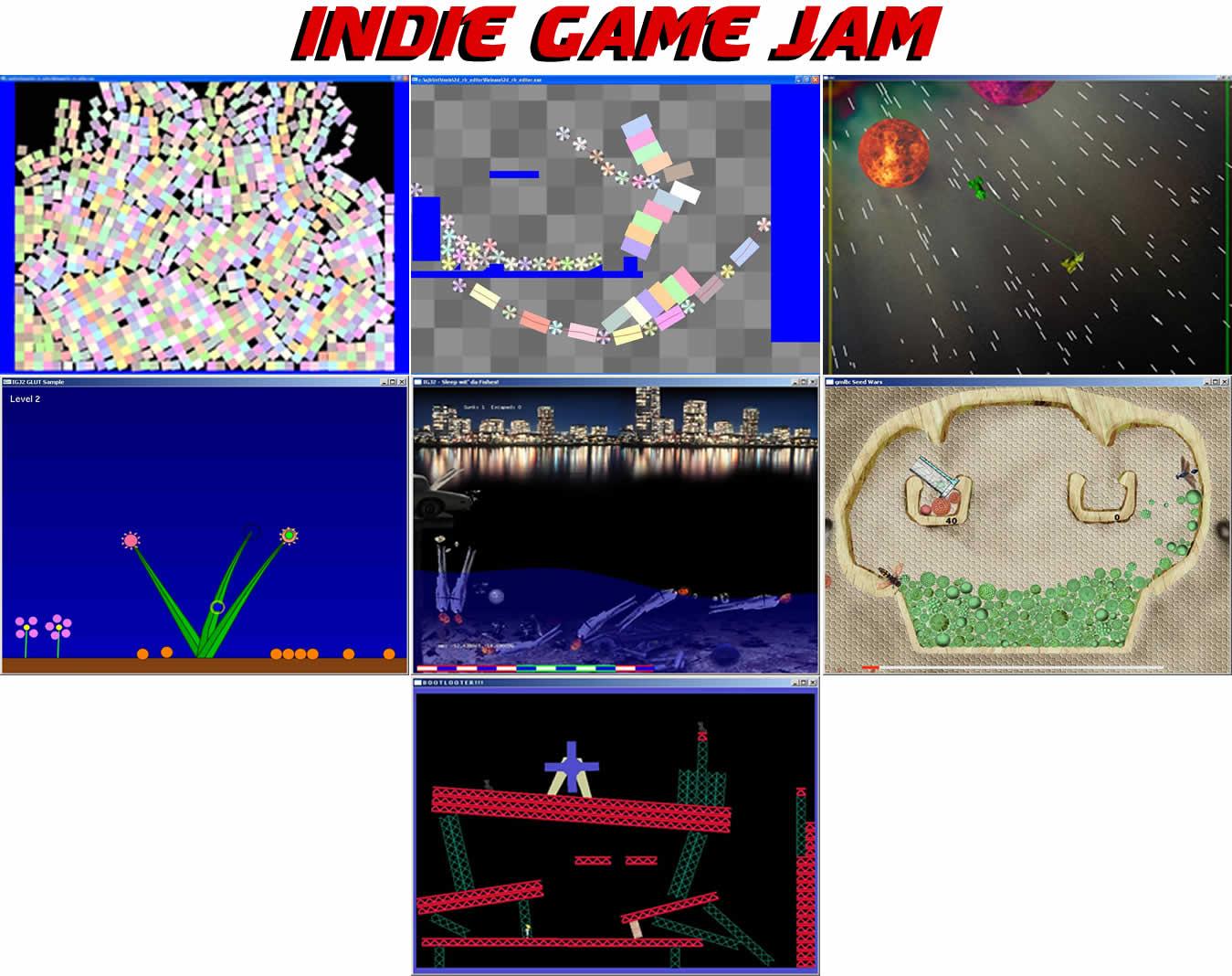 Indie Game Jame. Screenshots de los juegos