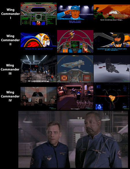 Evolución de Wing Commander - Versión pequeña